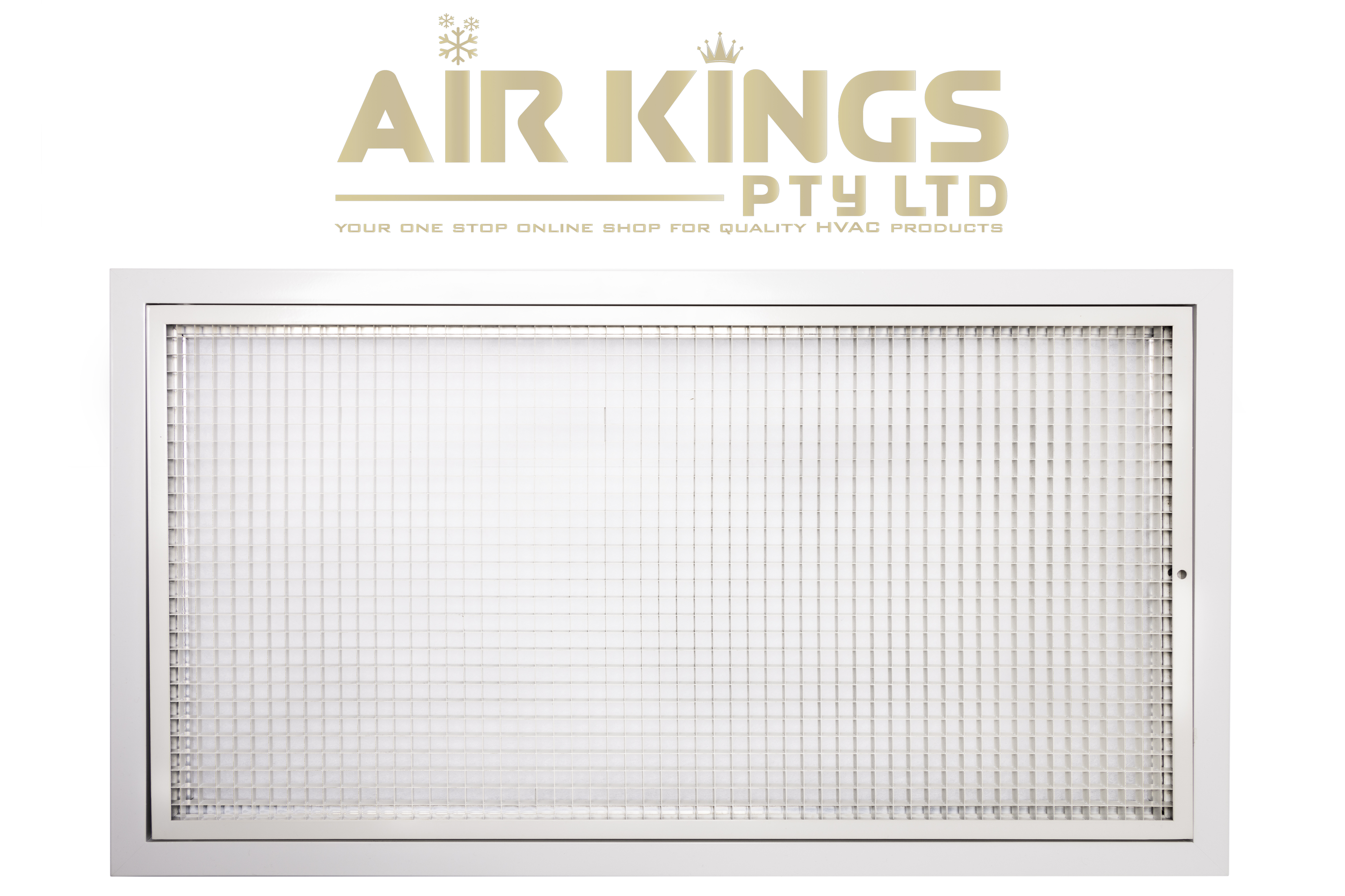 RETURN AIR GRILLE HINGED EGG CRATE WITH FILTER